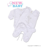 NEW BABY Négyrészes együttes New Baby angyalka   Fehér   68 (4-6 h)