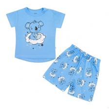 NEW BABY   New Baby Dream   Gyermek nyári pizsama New Baby Dream kék   Kék   74 (6-9 h)