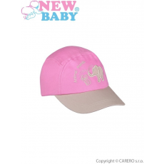 NEW BABY Nyári gyermek baseball sapka New Baby Animal Friend sötét rózsaszín