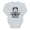 NEW BABY | Nyomtatott mintával | Body nyomtatott mintával New Baby Moto baby szürke | Szürke | 56 (0-3 h)