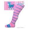 NEW BABY Pamut harisnyanadrág New Baby ABS-el rózsaszín zebra csíkos | Rózsaszín | 104 (3-4 éves)