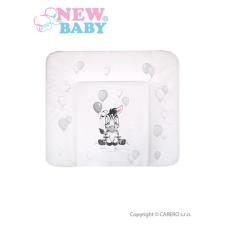 NEW BABY Pelenkázó lap puha New Baby Zebra fehér 85x70   Fehér   bútor