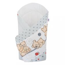 NEW BABY Pólyakendő New Baby világos szürke macival pólya