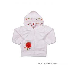 NEW BABY Szemis pulóver kapucnival | Fehér | 62 (3-6 h) babapulóver, mellény