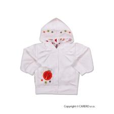 NEW BABY Szemis pulóver kapucnival | Fehér | 86 (12-18 h) babapulóver, mellény