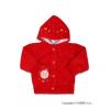 NEW BABY Szemis pulóver kapucnival | Piros | 68 (4-6 h)