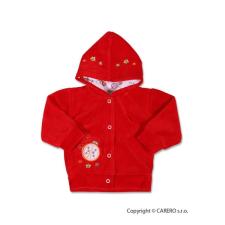 NEW BABY Szemis pulóver kapucnival | Piros | 68 (4-6 h) babapulóver, mellény