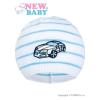 NEW BABY Tavaszi sapka New Baby Autó fehér - kék | Kék | 104 (3-4 éves)