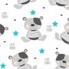 NEW BABY Vízálló flanel alátét New Baby Cute Teddy