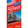 New England (az észak-atlanti part) autótérkép - Hallwag No.4