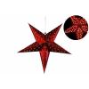 Nexos Karácsonyi dísz - csillag időzítővel 60 cm - 10 LED, piros