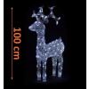 Nexos Trading GmbH & Co. KG LED dekoráció - karácsonyi rénszarvas - 100 cm fehér fény