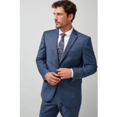 Next , Gyapjú tartalmú tailored fit zakó, Kék, 38L (576410-BLUE-38L)