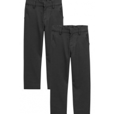 Next , Slim fit chino nadrág szett - 2 db, Fekete, 8Y Standard (460548-BLACK-8)