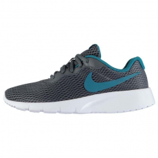 Nike gyerek sportcipő - Nike Tanjun Junior Trainers Grey Blue