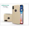 Nillkin Apple iPhone X hátlap képernyővédő fóliával - Nillkin Frosted Shield Logo - gold