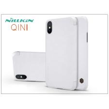 Nillkin Apple iPhone X oldalra nyíló flipes tok - Nillkin Qin - fehér tok és táska