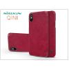 Nillkin Apple iPhone X oldalra nyíló flipes tok - Nillkin Qin - piros