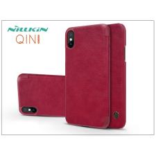 Nillkin Apple iPhone X oldalra nyíló flipes tok - Nillkin Qin - piros tok és táska