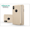 Nillkin Apple iPhone X oldalra nyíló flipes tok - Nillkin Sparkle - gold