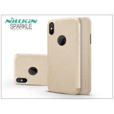 Nillkin Apple iPhone X oldalra nyíló flipes tok - Nillkin Sparkle - gold tok és táska