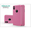 Nillkin Apple iPhone X oldalra nyíló flipes tok - Nillkin Sparkle - pink
