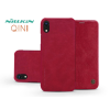 Nillkin Apple iPhone XR oldalra nyíló flipes tok - Nillkin Qin - piros