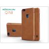 Nillkin Huawei P10 Lite oldalra nyíló flipes tok - Nillkin Qin - barna