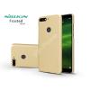 Nillkin Huawei Y7 (2018)/Huawei Y7 Prime (2018) hátlap képernyővédő fóliával - Nillkin Frosted Shield - gold