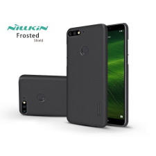 Nillkin Huawei Y7 (2018)/Huawei Y7 Prime (2018)/Honor 7C hátlap képernyővédő fóliával - Nillkin Frosted Shield - fekete tok és táska
