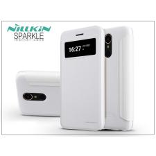 Nillkin LG K10 M250N (2017) oldalra nyíló flipes tok - Nillkin Sparkle - fehér tok és táska