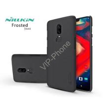 Nillkin OnePlus 6 (A6000) hátlap képernyővédő fóliával - Nillkin Frosted Shield - fekete tok és táska