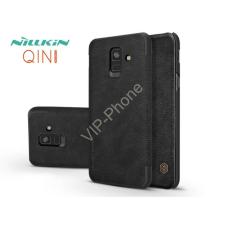 Nillkin Samsung A600F Galaxy A6 (2018) oldalra nyíló flipes tok - Nillkin Qin - fekete tok és táska