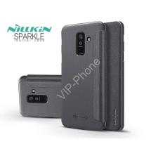 Nillkin Samsung A605 Galaxy A6 Plus (2018) oldalra nyíló flipes tok - Nillkin Sparkle - fekete tok és táska