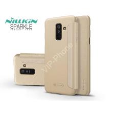 Nillkin Samsung A605 Galaxy A6 Plus (2018) oldalra nyíló flipes tok - Nillkin Sparkle - gold tok és táska