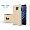 Nillkin Samsung A730F Galaxy A8 Plus (2018) hátlap képernyővédő fóliával - Nillkin Frosted Shield - gold