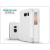 Nillkin Samsung G930F Galaxy S7 oldalra nyíló flipes tok - Nillkin Sparkle - fehér