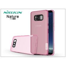 Nillkin Samsung G955F Galaxy S8 Plus szilikon hátlap - Nillkin Nature - pink tok és táska