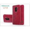 Nillkin Samsung G965F Galaxy S9 Plus oldalra nyíló flipes tok - Nillkin Qin - piros