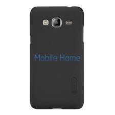 Nillkin Super Frosted hátlap tok Samsung J320 Galaxy J3 2016, fekete + ajándék kijelzővédő fólia tok és táska