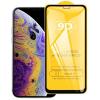 Nincs info Iphone 11 Pro / XS / X kijelzővédő edzett üvegfólia (9H, 9D, fekete)