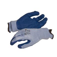 NMSafety latex tenyérmártott Poli-pamut kötött kesztyű (EN 2242), kék, XL-es