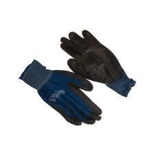 NMSafety PU tenyérmártott nylon kesztyű (EN 4131), kék, L-es