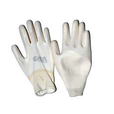 NMSafety PU tenyérmártott, poliészter kesztyű (EN 3131), fehér, XL-es