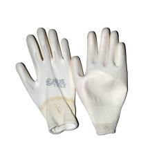 NMSafety PU tenyérmártott, poliészter kesztyű (EN 3131), fehér, XXXL-es