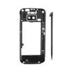 Nokia 5530 középső keret alkatrészekkel fekete (swap)