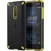 Nokia 5 gyári ütésálló hátlap tok, fekete-narancs, CC-502