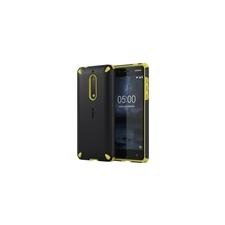 Nokia 5 gyári ütésálló hátlap tok, fekete-narancs, CC-502 tok és táska