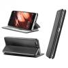 Nokia 6.1 Plus, Oldalra nyíló tok, stand, Forcell Elegance, fekete
