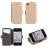 Nokia 6 Android, Book Pocket oldalra nyíló flip tok, arany